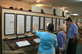 The Ausbund Anabaptist Hymnal Display at the Amish/Mennonite Heritage Center